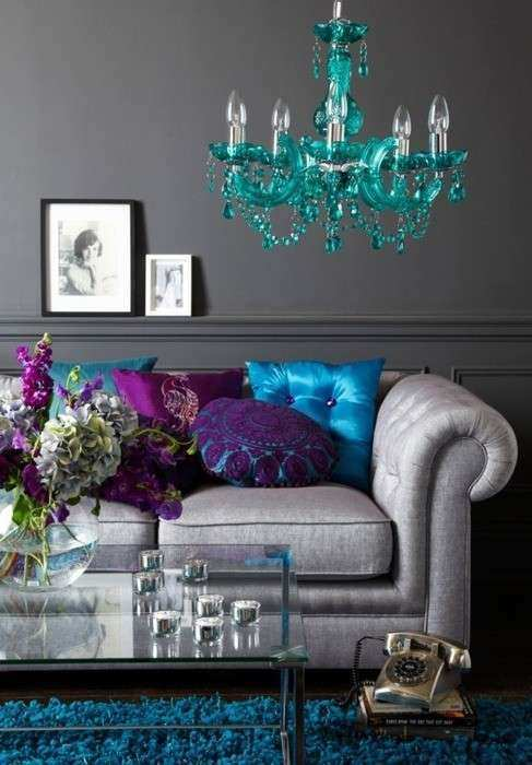 Decorating With Turquoise Teal and Purple — Style Estate