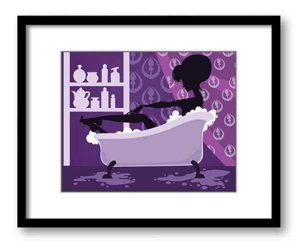 purple bathroom wall art 28 images items similar to