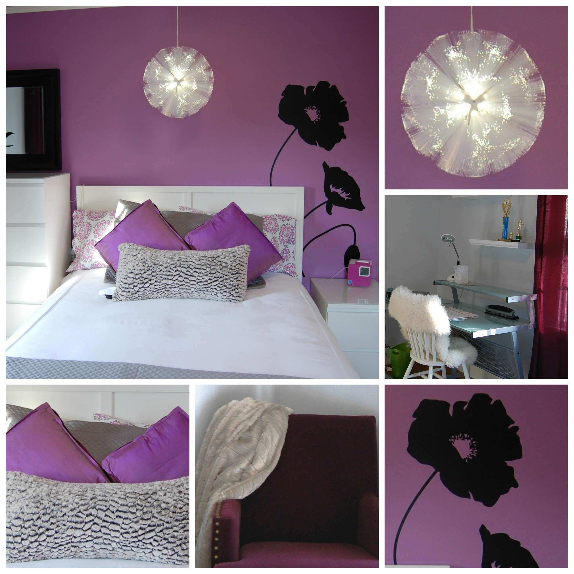 Purple Wall Decor for Bedrooms Luxury Bedroom Colors Grey Purple
