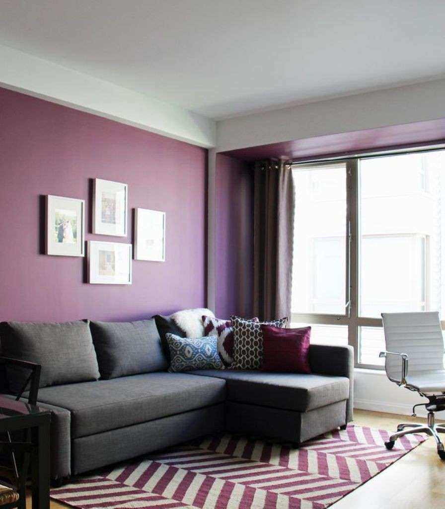 purple walls in living room purple living room walls cabinets matttroy 21676