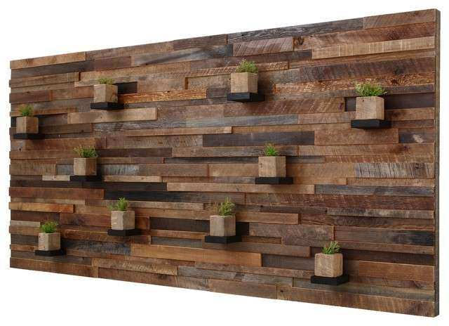 Reclaimed Barn Wood Wall Art With Floating Shelves 7 x3 4