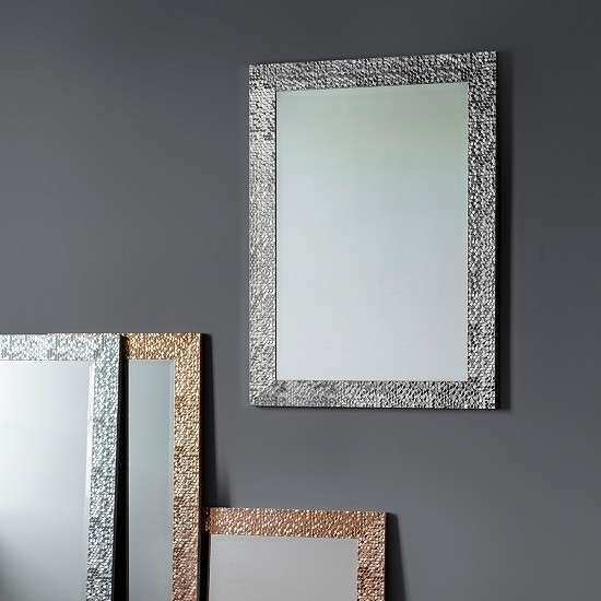 Fantom Wall Mirror Rectangular In Silver Furniture in