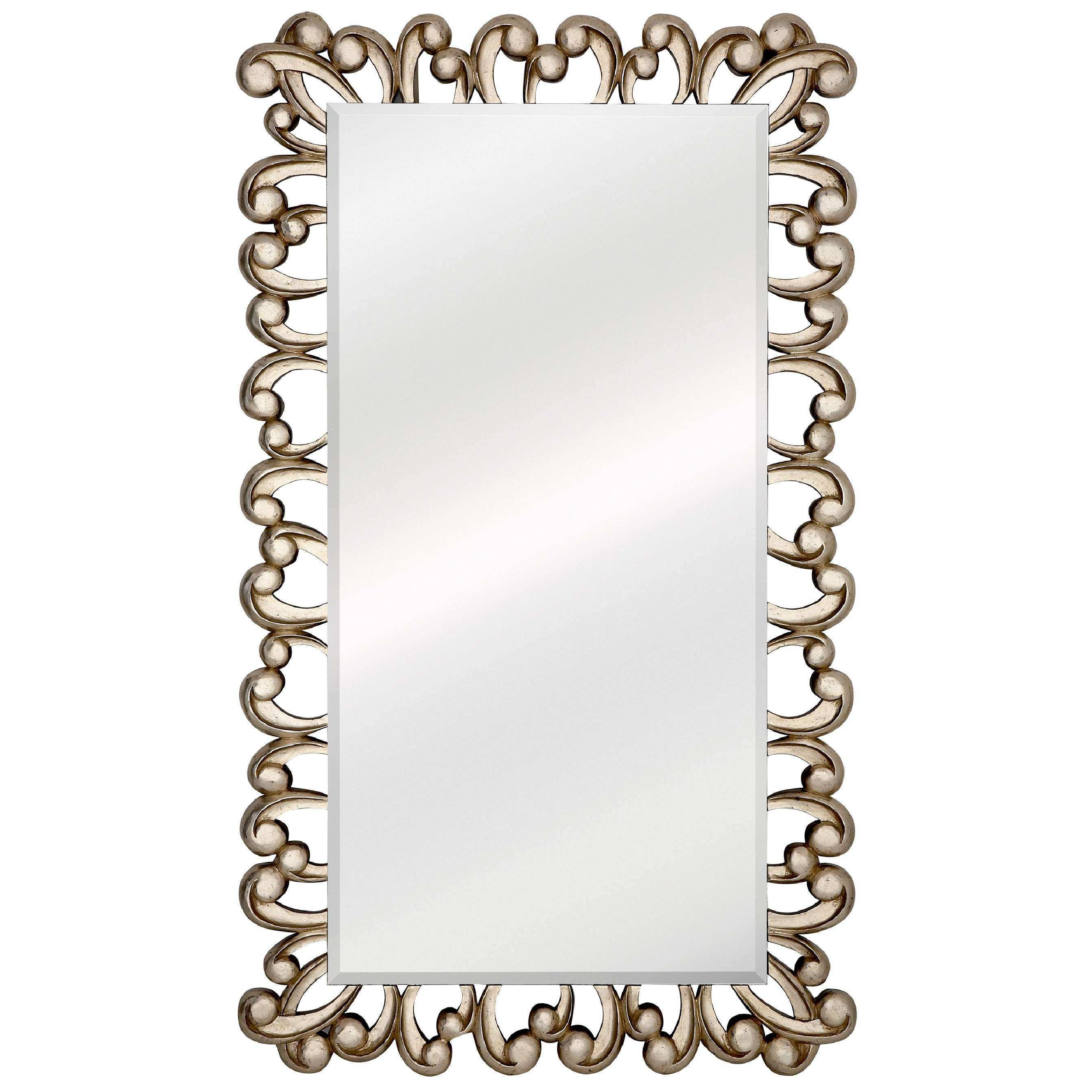 Majestic Mirror Stylish Silver Rectangular Beveled