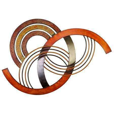 Metal Wall Decor With Brown Red And Orange Colors