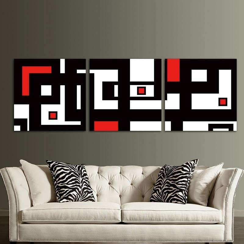 Red Wall Decor for Living Rooms Inspirational Red Black White Design ...
