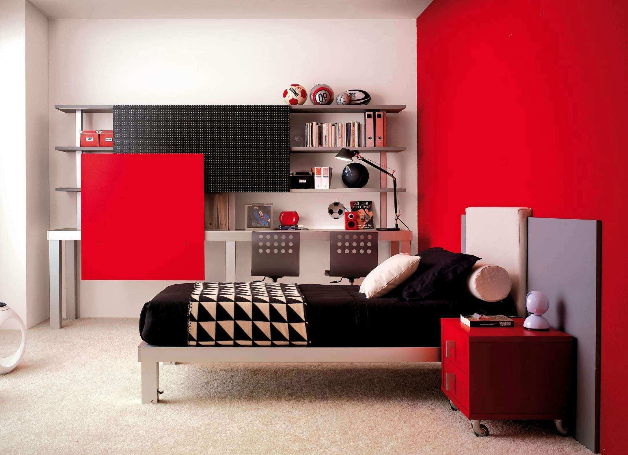Diy Girl Bedroom Red And Black Wall Decor