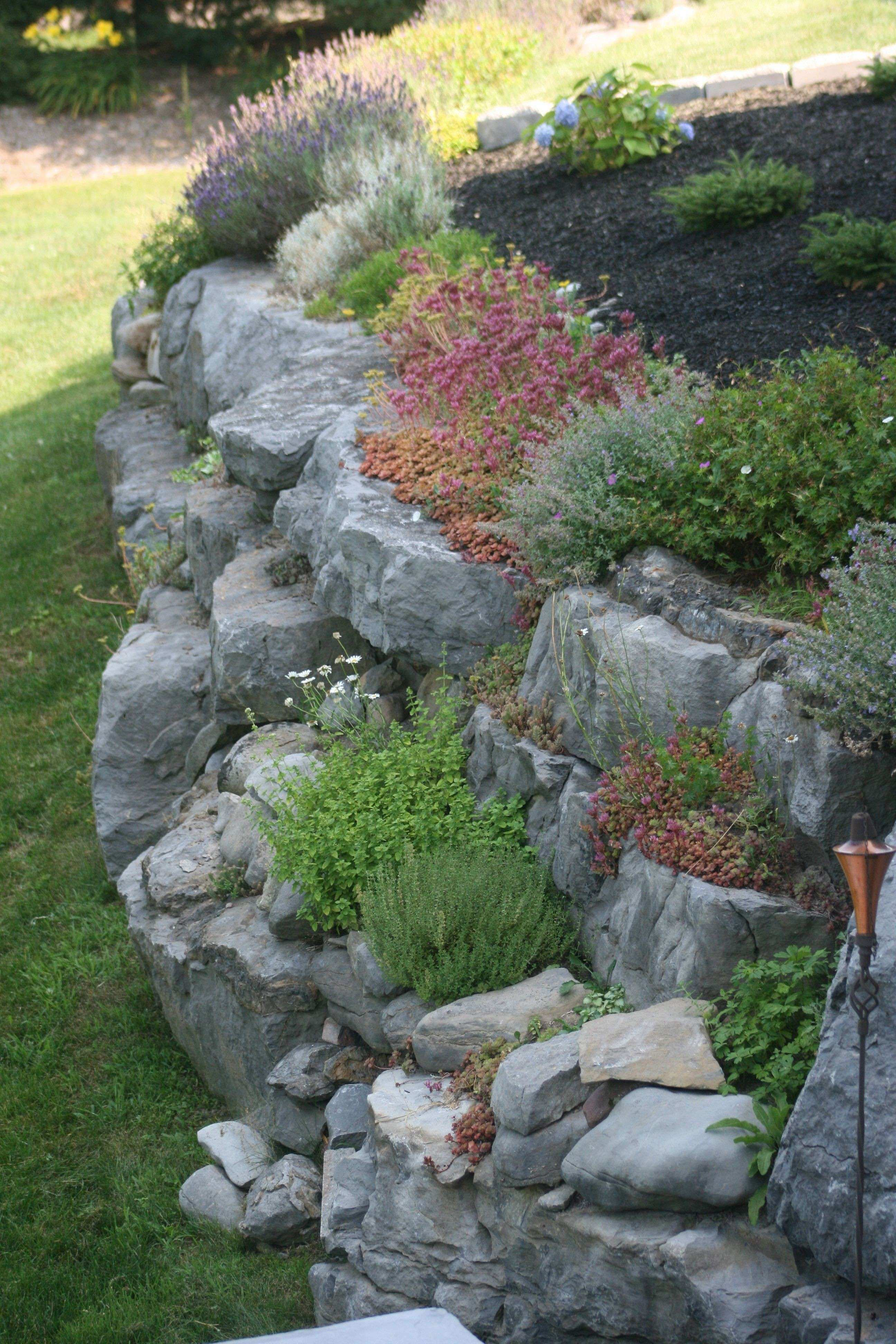 Retaining Wall Pictures Of Retaining Walls Ideas Best Of Rock Garden On Retaining Wall …