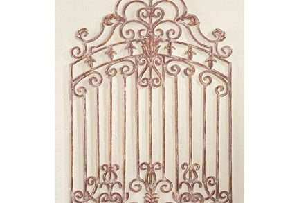 High Quality Rod Iron Wall Decor Elegant Wrought Iron Garden Gate Wall Decor Inside Out