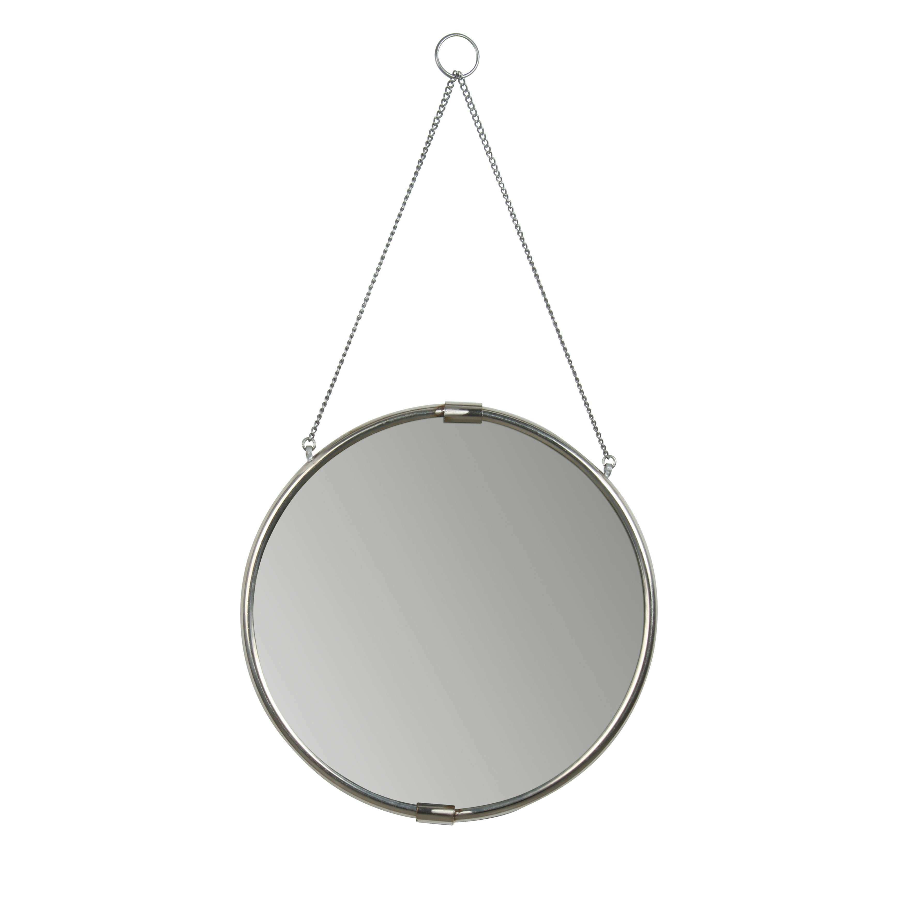 Kate and Laurel Brea Decorative Round Hanging Wall Mirror