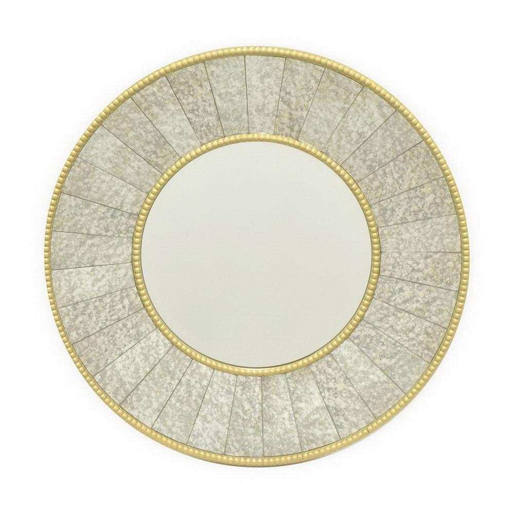 THREE HANDS Round Decorative Wall Mirror The Home
