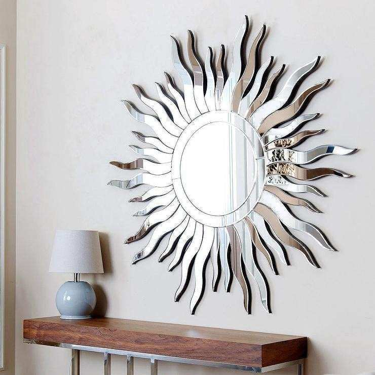 Abbyson Living Sol Round Silver Wall Mirror