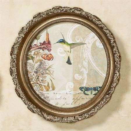 Victorian Collage Round Framed Wall Art