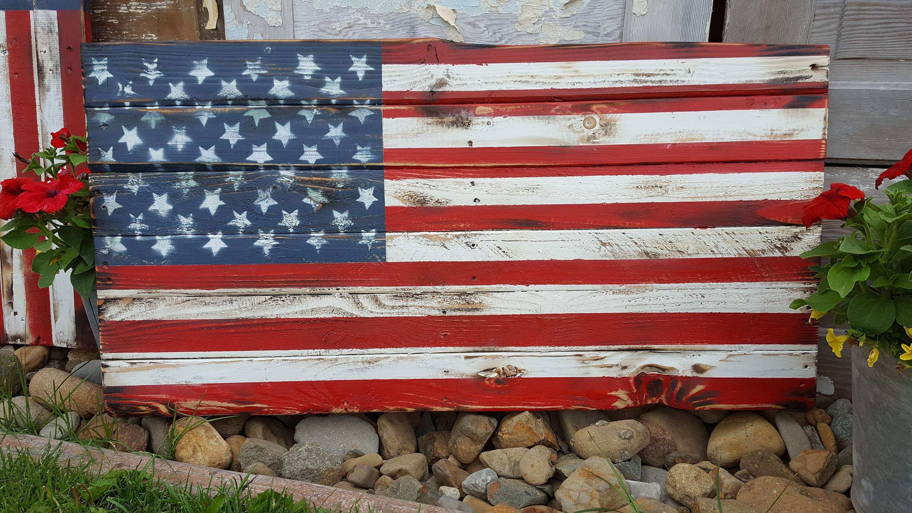 Free Download Image Unique Rustic American Flag Wall Art 650 366