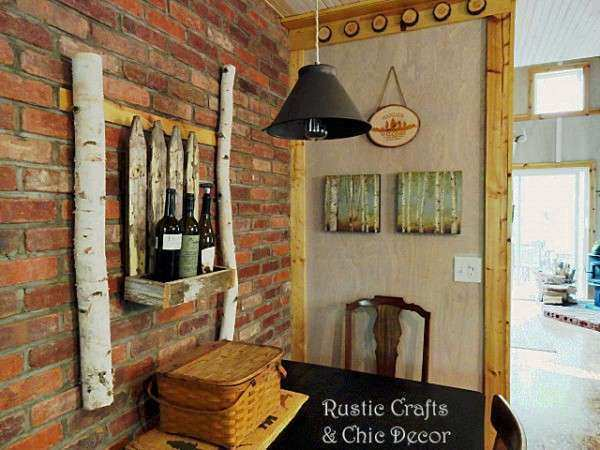 Rustic Dining Room Wall Ideas Rustic Crafts & Chic Decor