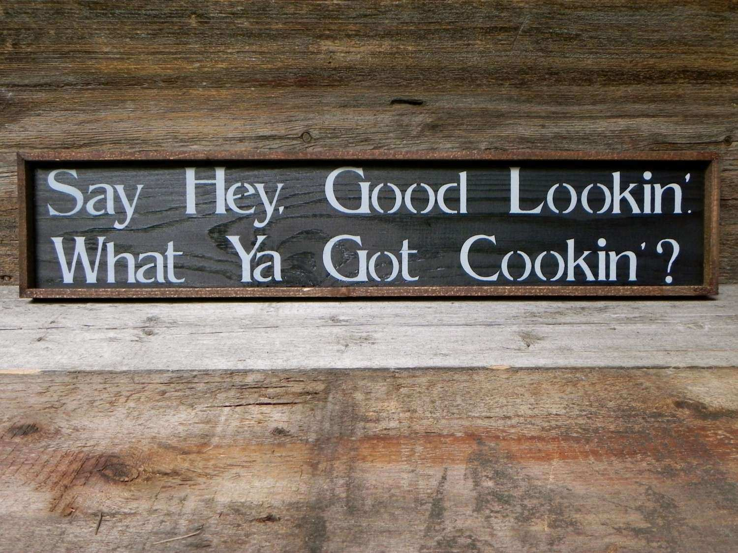 Kitchen Wall Decor Handmade Wood Sign Rustic Country Signs
