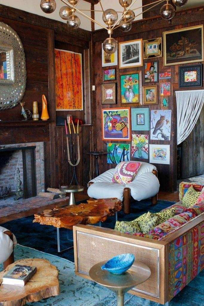 Rustic Wall Decor for Living Room New 20 Modern Eclectic Living Room ...