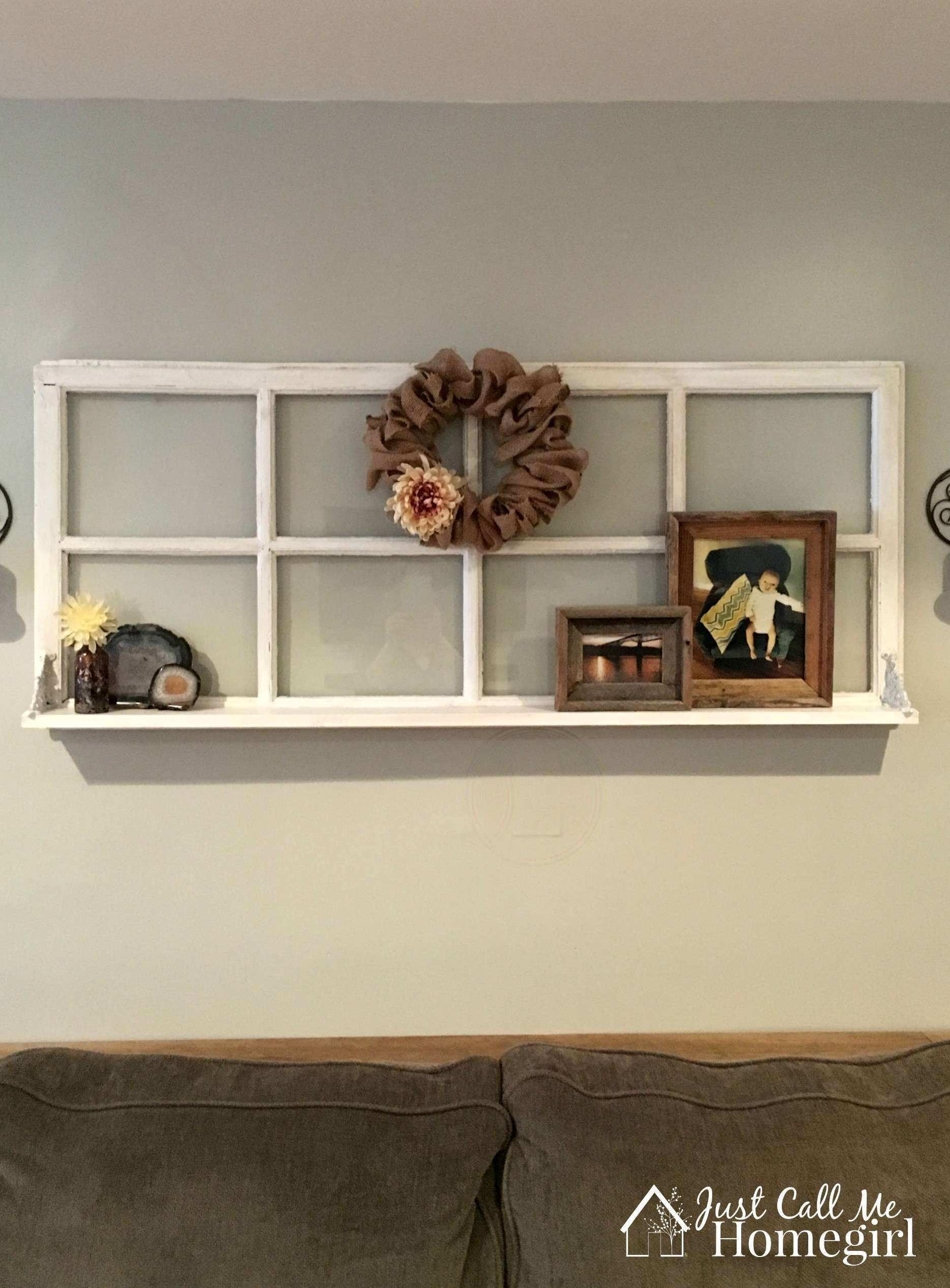 Rustic Window Frame Wall Decor Beautiful Adding A Shelf to An Old ...