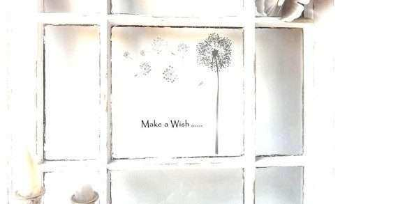 Rustic Window Frame Wall Decor Beautiful Dandelion Wall Art Shabby Rustic Wood Window Frame