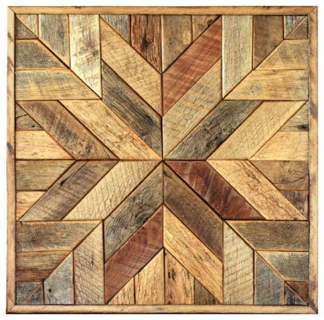 Wood Star Wall Art Star Quilt Block Rustic Wall