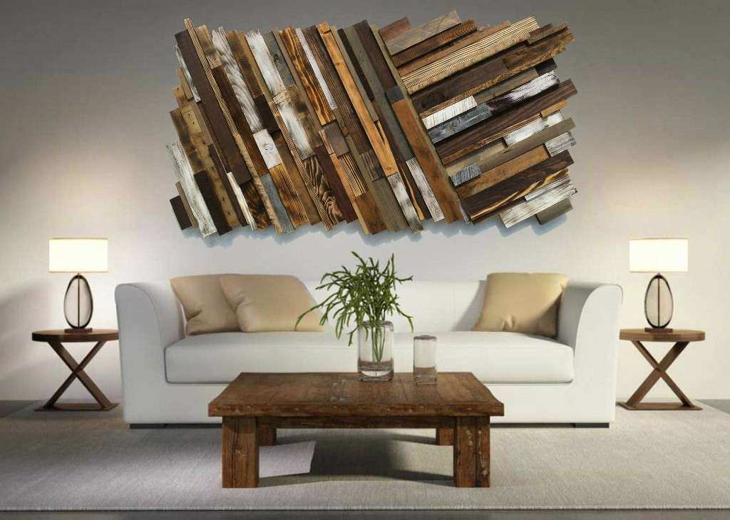 Rustic Wood Wall Decor New Reclaimed Wood Wall Art Free Shipping Rustic Art  Abstract