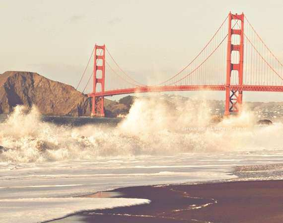 large wall art San Francisco photography Golden Gate by