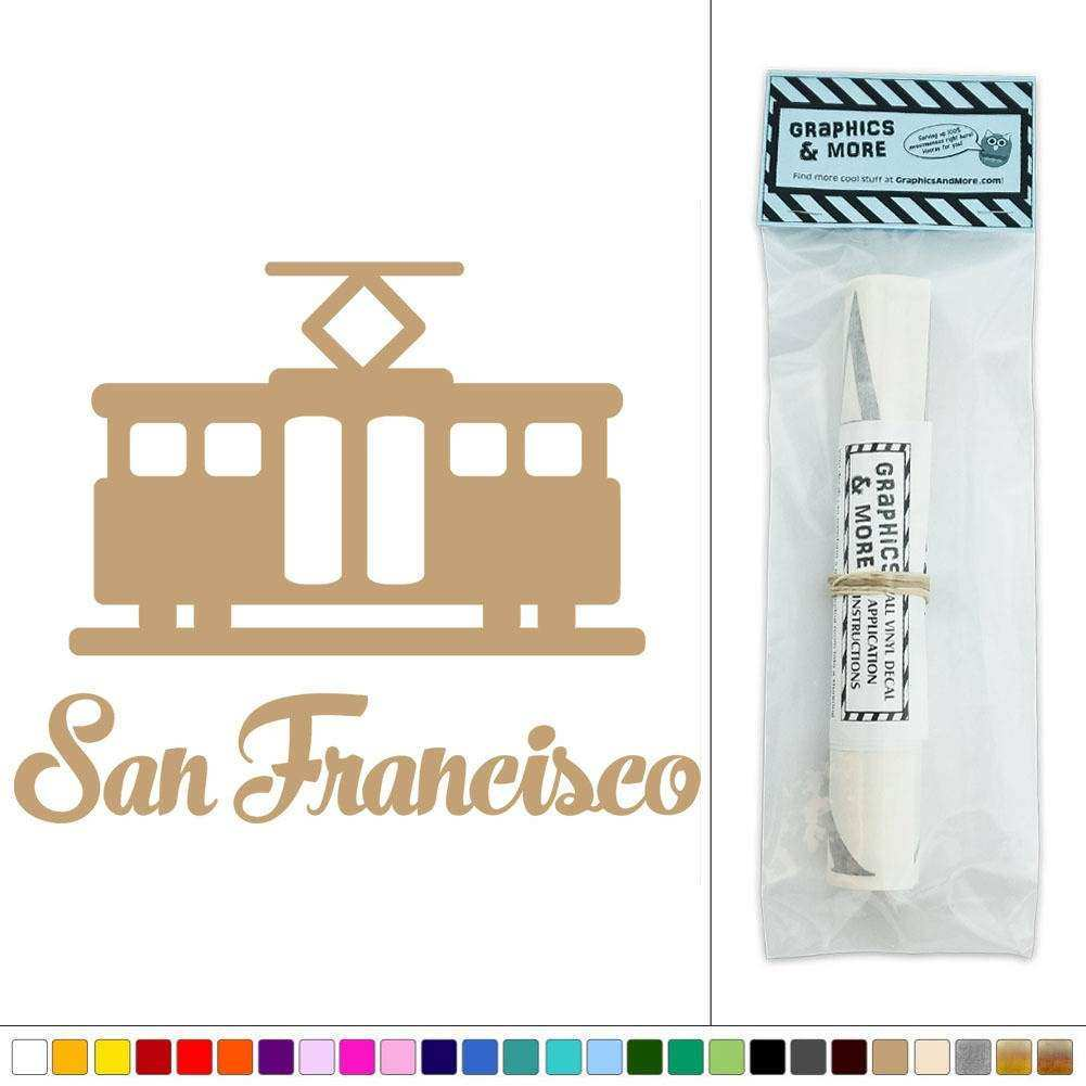 San Francisco Cable Trolley Street Car Vinyl Sticker Decal