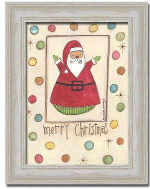 Merry Christmas Santa Claus Gift By Bernadette Deming