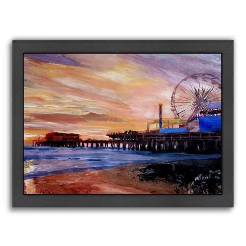 Americanflat Santa Monica Pier 2 Framed Wall Art
