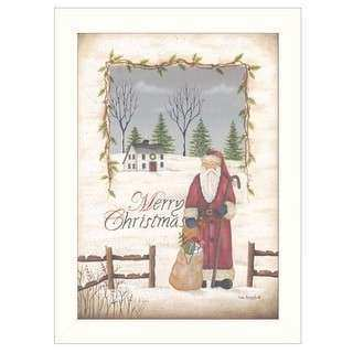 Sue Cornish Shhh Santa 20x28 Framed Wall Art Free