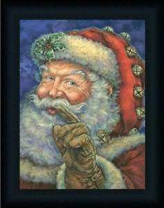 Better be Good Santa Claus Christmas Décor Framed Art