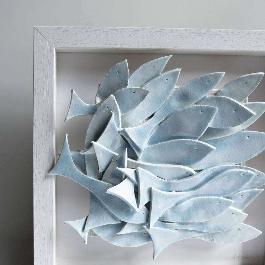 school of fish sculptural wall art by karoart