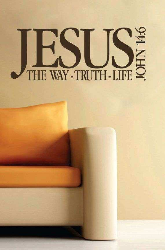 Scripture Wall Art Inspirational John 14 6 Scripture Wall Decor ...