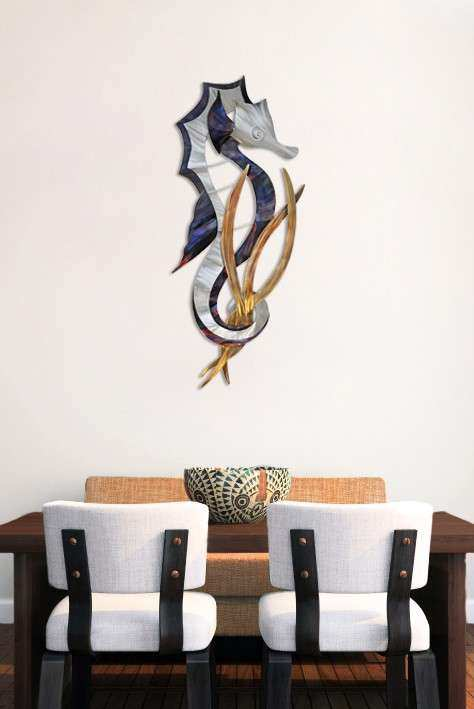 Regal Seahorse Wall Decor