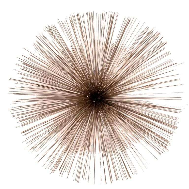 Curtis Jere Nickel Sea Urchin Wall Sculpture at 1stdibs
