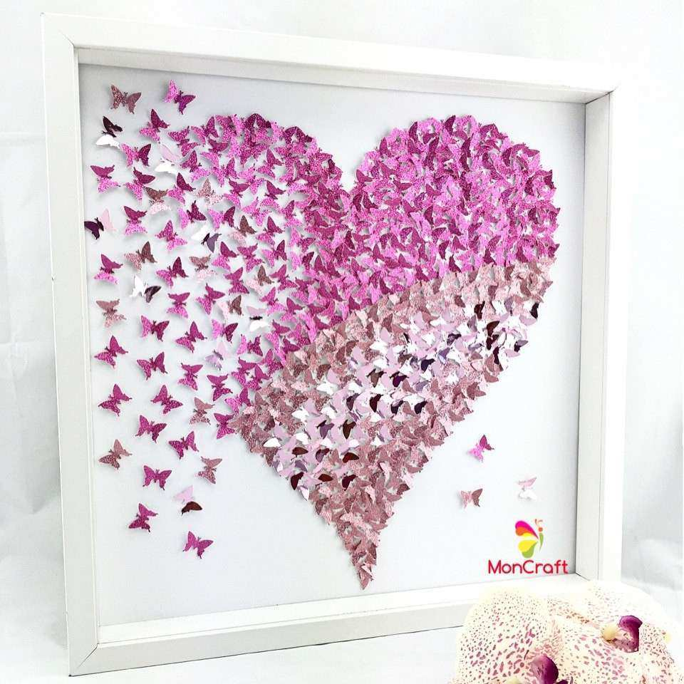 3D Butterfly Framed Wall Art Takuice