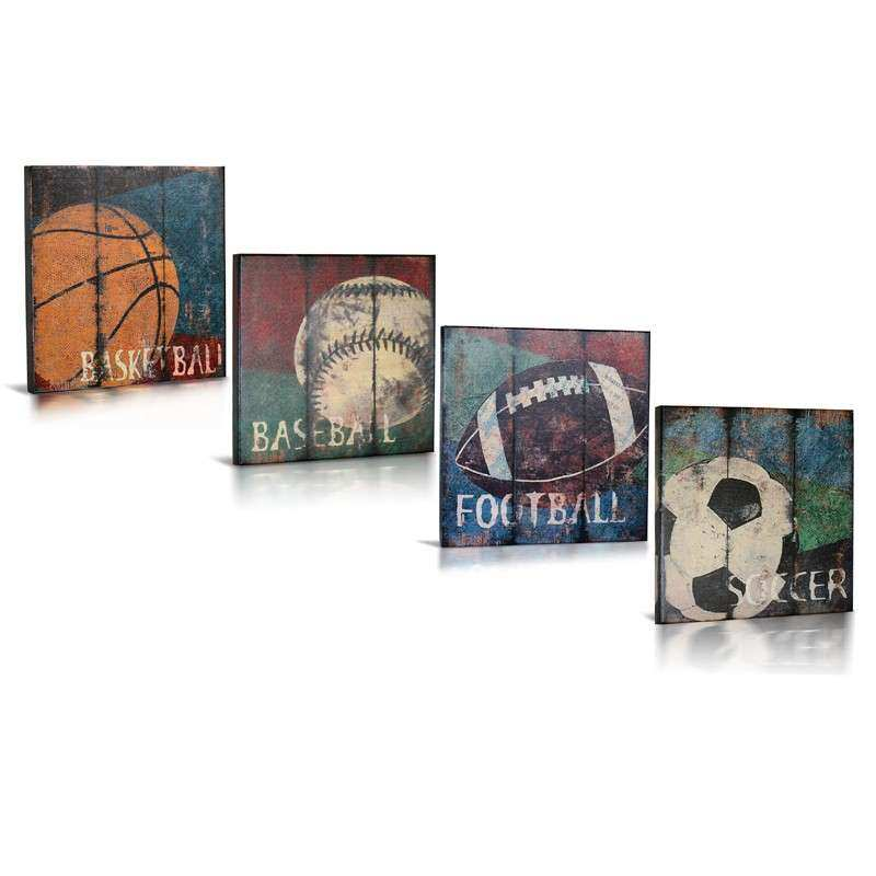 Sports Canvas Wall Art wall decor sports set of 4 canvas