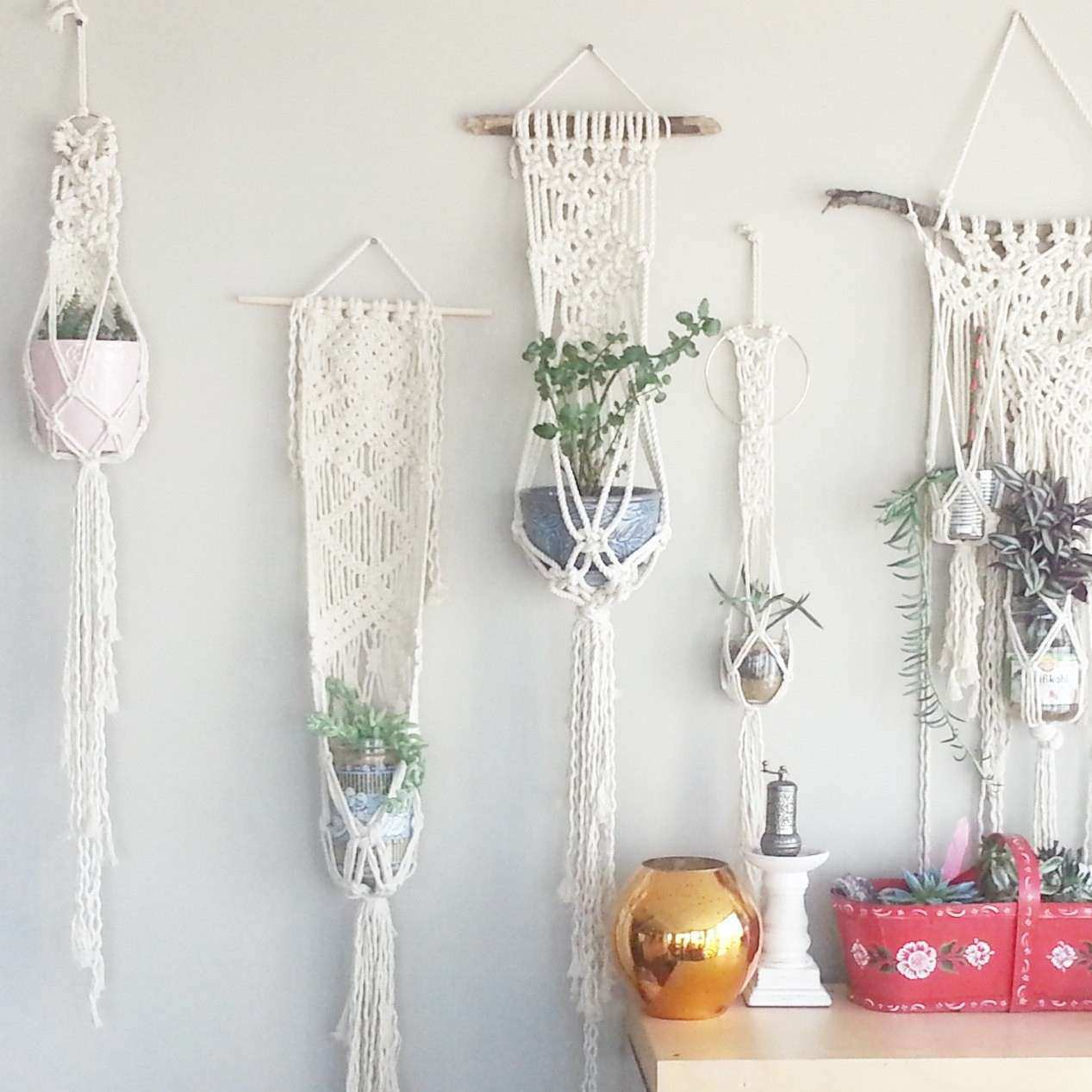 Shabby Chic Wall Decor Awesome Hanging Planter Accent Bohemian Dorm