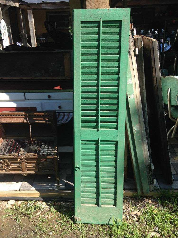 VTG Shutters Architectural Salvage Farmhouse Green
