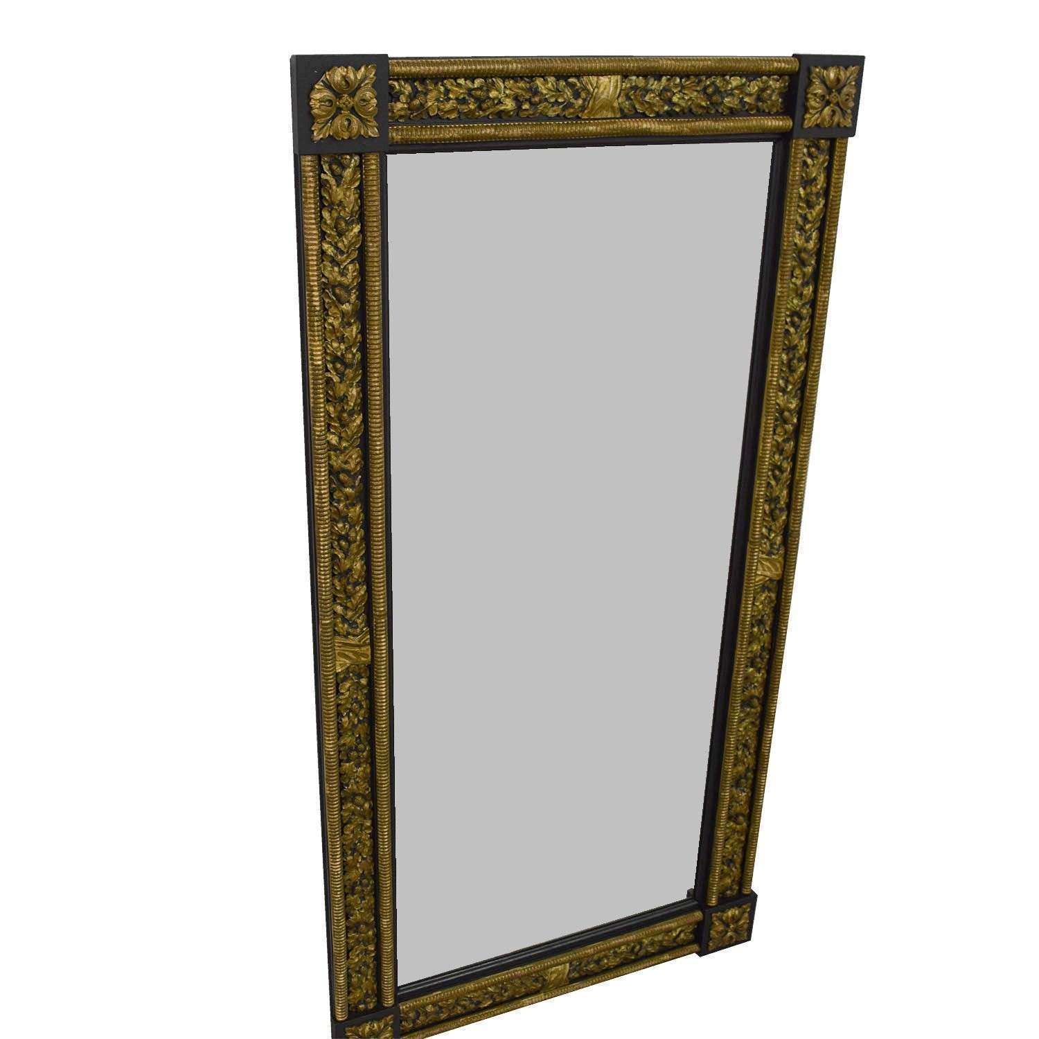 OFF Gold and Silver Framed Wall Mirror Decor