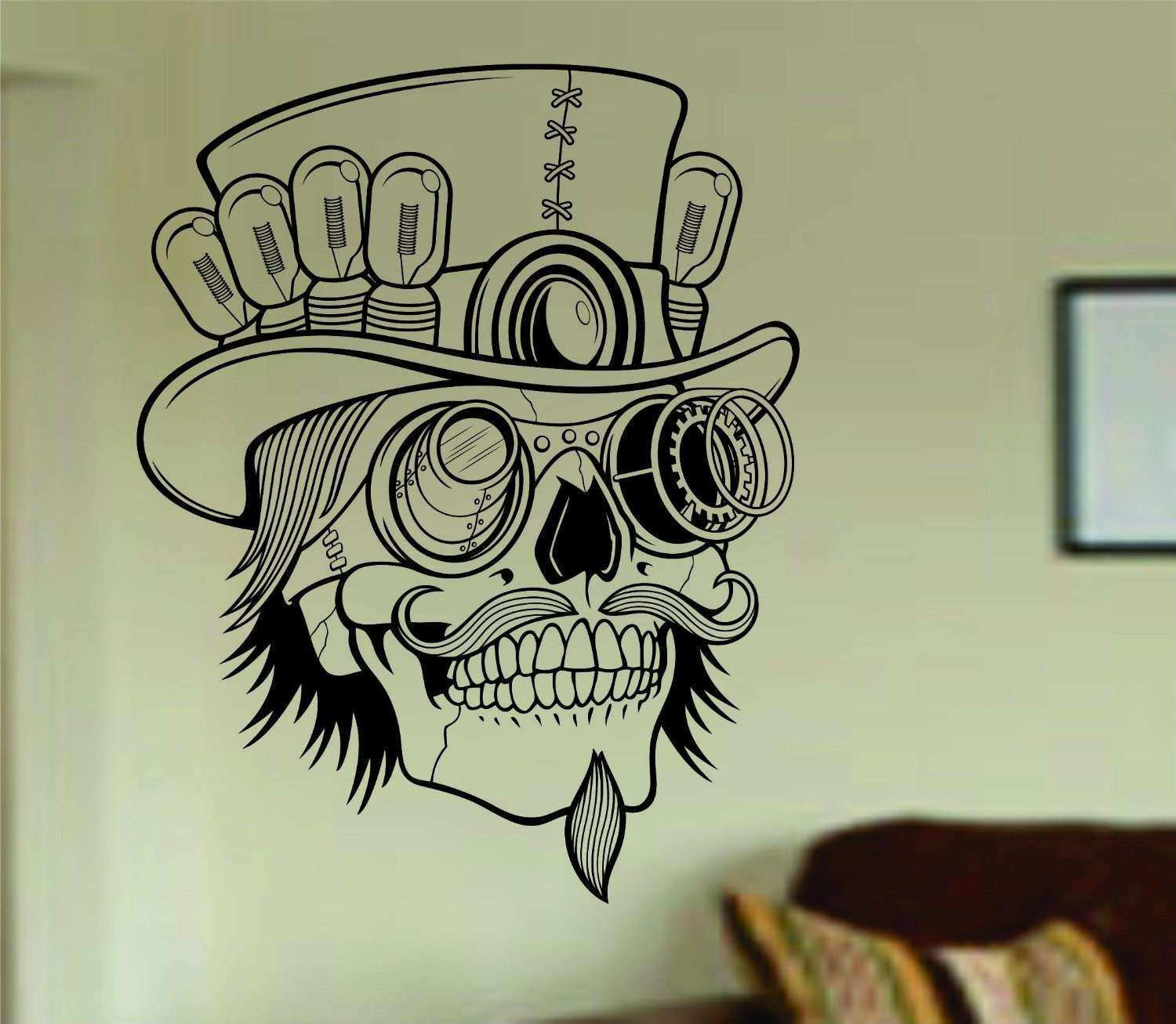 Steampunk Skull Wall Vinyl Decal Sticker Art Graphic Sticker
