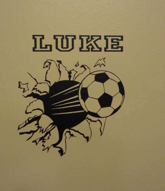 Soccer Wall Art Beautiful Items Similar To Wall Decal Soccer Ball Through  The Wall