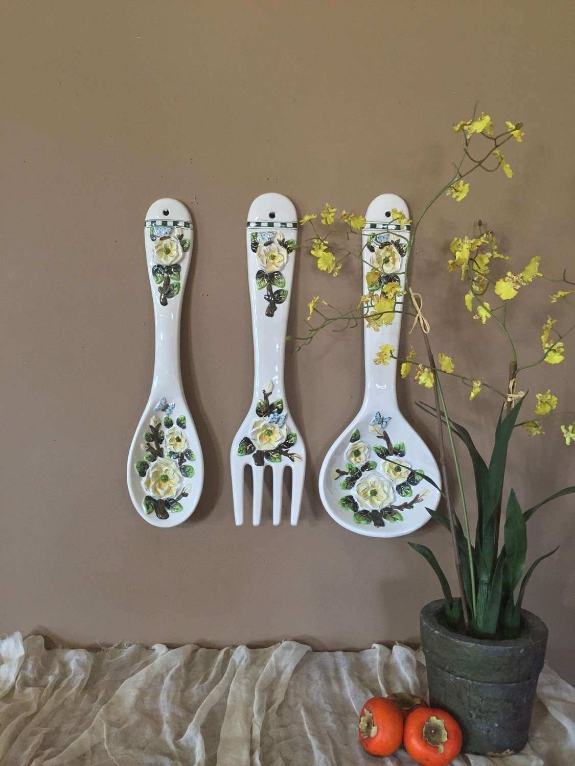 Vintage Spoon and Fork Spoon and Fork Wall Decor Spoon and