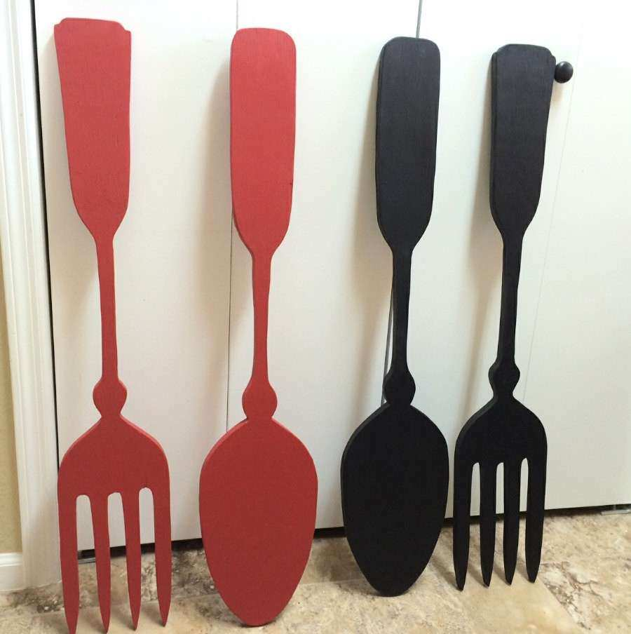 Fork and Spoon Kitchen Wall Decor Kitchen Wall