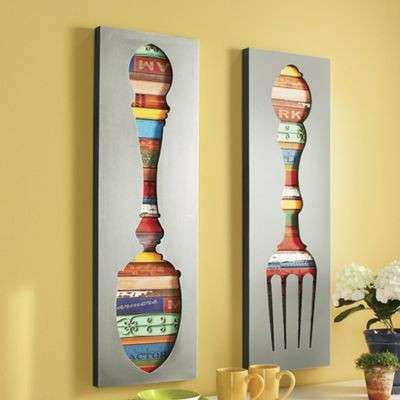 Spoon and fork Wall Decor Lovely fork and Spoon Wall Décor From Ginny S