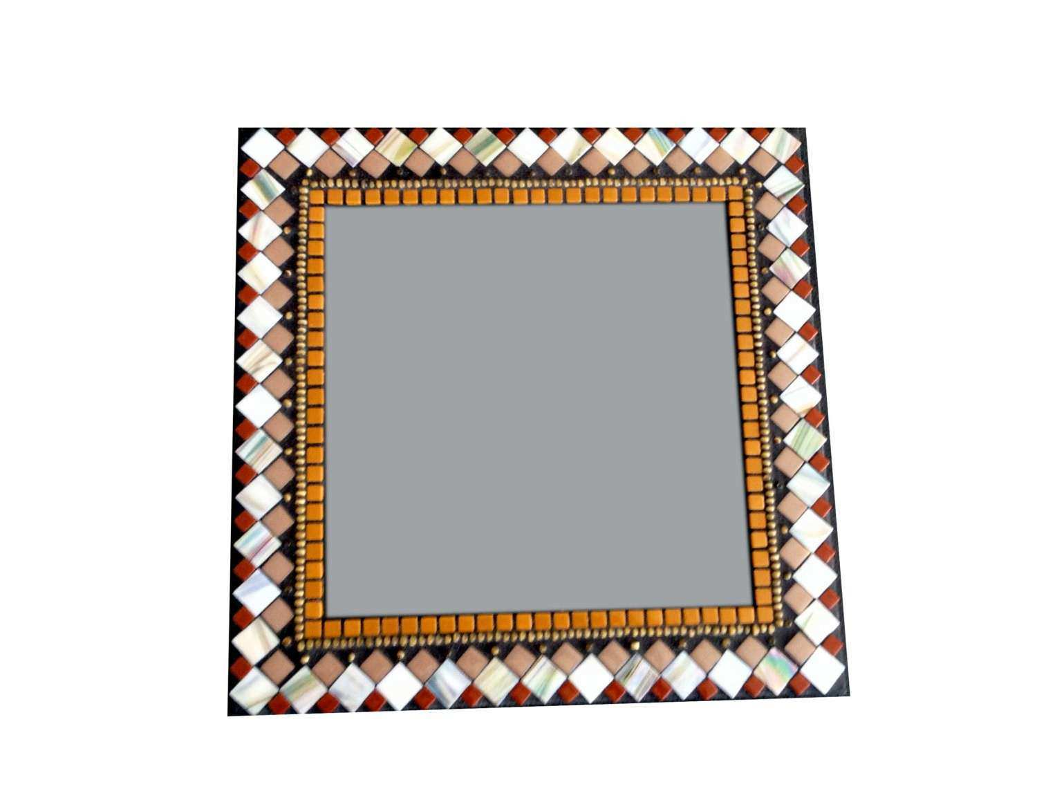 SALE Square Mosaic Mirror Wall Decor by