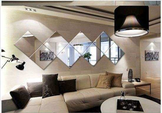 Square Mirror Wall Decor Ideas Lovely Living Room Decorating Ideas With  Mirrors