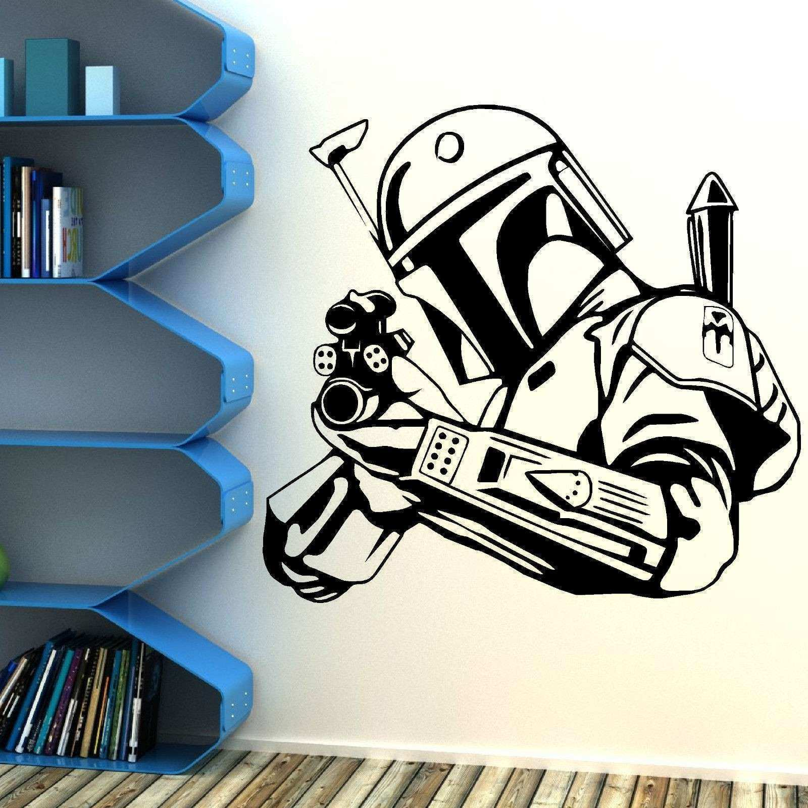 STAR WARS BOBBA FETT BOUNTY HUNTER vinyl wall art sticker