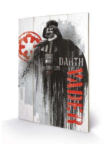 Star Wars Rogue e Darth Vader Wooden Wall Art