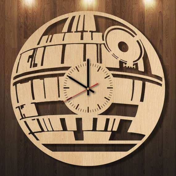 Star Wars wooden clock wall clock wall art wall by ErikWoodArt