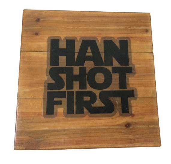 Star Wars Han Solo Reclaimed Wood Pallet by